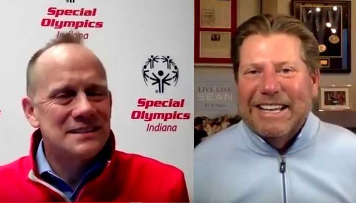 TJ Nelligan talks with Special Olympics Indiana