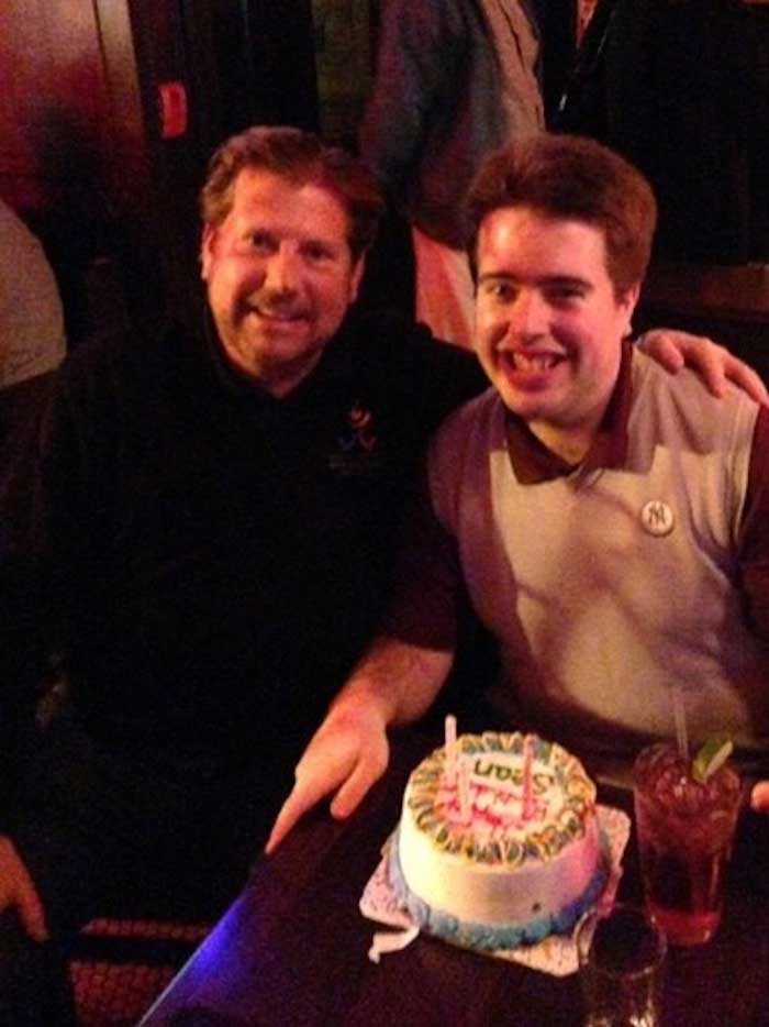 TJ and Sean on his 23rd birthday